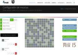 Configurador de mezclas para mosaicos